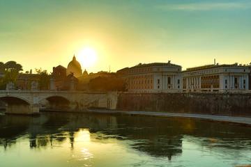 Sonnenuntergang über Rom