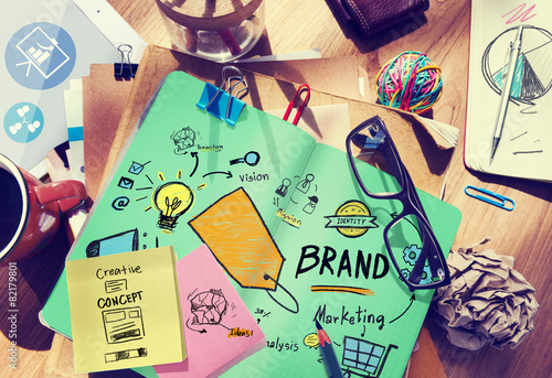 Brand Branding Marketing Commercial Name Concept - 82179801