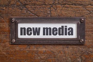 new media file cabinet   label