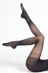 Jambes en collant noir