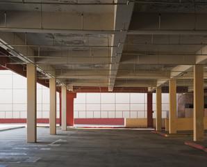 Empty Open-Air Parking Garage