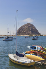Morro Rock is a large volcanic plug in Morro Bay