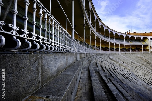 Foto op Canvas Stadion Curved Seating in the Stadium