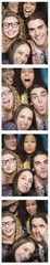 Photobooth strip of friends posing together