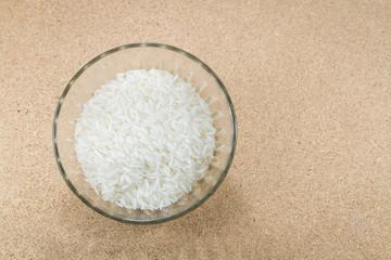 Jasmine rice in a rice bowl