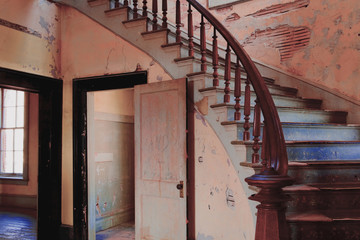 Grand Stairway of the abandoned Hotel Meade
