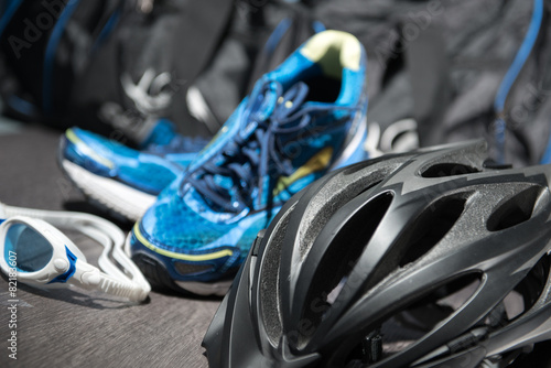 canvas print picture Triathlon Equipment