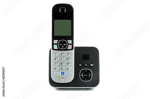 Wireless black telephone with cradle - 82184657
