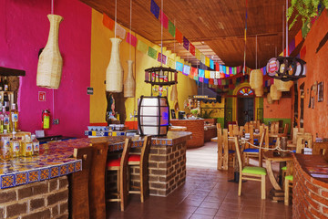 Colorful Interior of Restaurant
