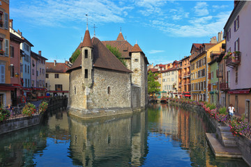 The ancient city of Annecy in Provence