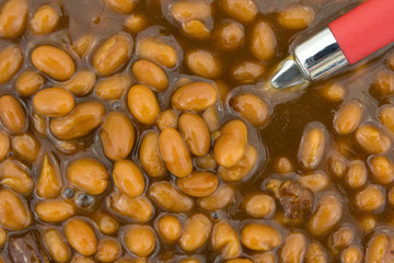 Canned Country Style Beans Close View