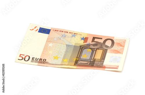 Leinwanddruck Bild 50 Euro Schein
