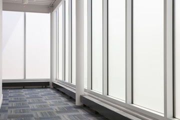 Hallway of a contemporary office building