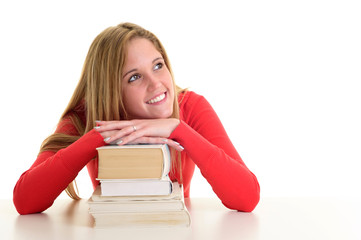 Hübsche Studentin träumt von der Zukunft