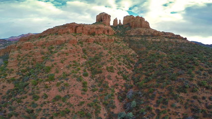 Aerial view of Cathedral Rock in Sedona