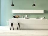 Fototapety moderne küche. 3d rendering