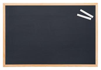 Blackboard with chalk