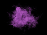 Illustration of violett smoke on black background