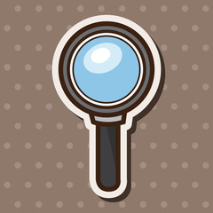 magnifying glass theme elements