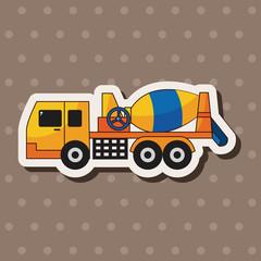Cement mixer trucks theme elements