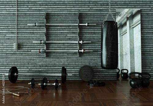 Leinwandbild Motiv Fitnessraum