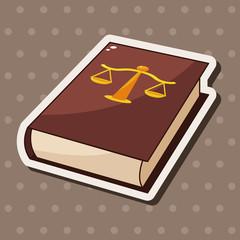 law book theme elements