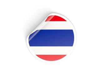 Round sticker with flag of thailand