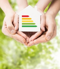 Home. Energy saving, real estate and family home concept -