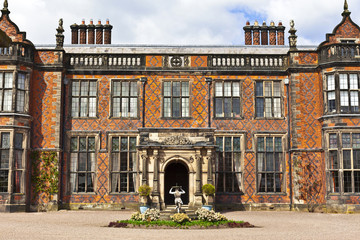 Historic English stately home in Cheshire, UK.