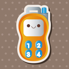 baby toy walkie theme elements