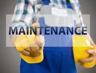 Business. Closeup of construction worker choosing Maintenance