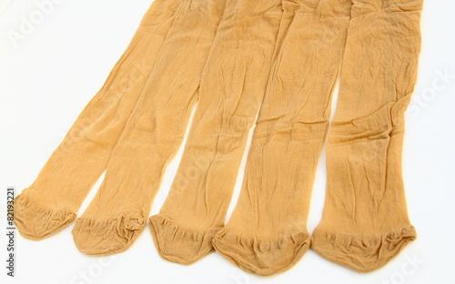 chaussettes beige en nylon,isolé,fond blanc - 82193221