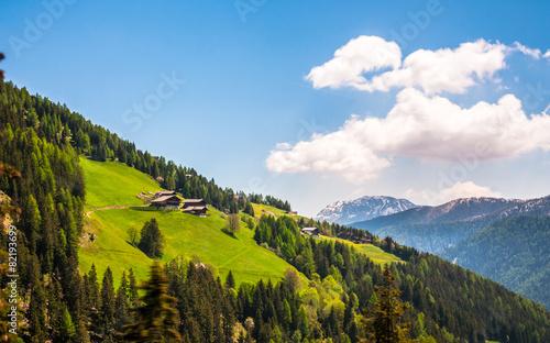 Leinwanddruck Bild Alm in Südtirol