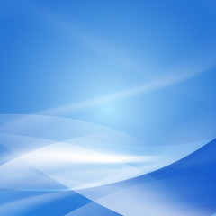 Abstract smooth blue flow background, Vector illustration