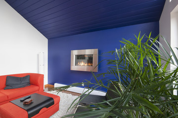 Colorful and Contemporary Living Room