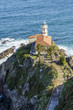 Leinwanddruck Bild - Lighthouse of Cudillero, Asturias