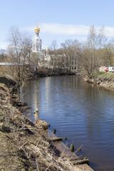 Река Смоленка и Храм Воскресения Христова. Санкт-Петербург