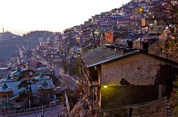 Hillside Homes in Shimla, India