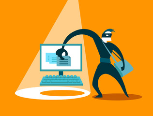 The swindler steals data
