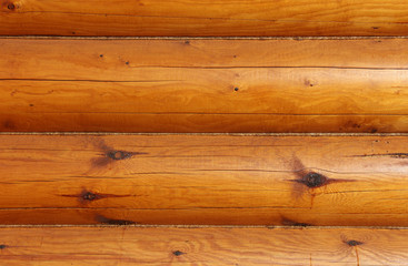 wooden logs wall of house
