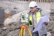 Surveyor At Consruction Site - 82198499