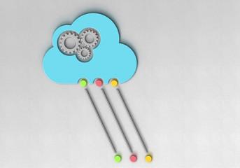 Cloud Zahnrad Netzwerk Leitung a