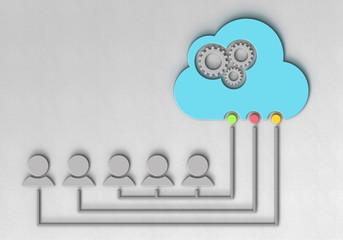 Cloud Zahnrad Figur Netzwerk FW