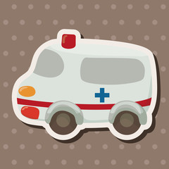 transportation ambulance theme elements