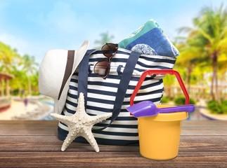 Beach. Beach Items Isolated