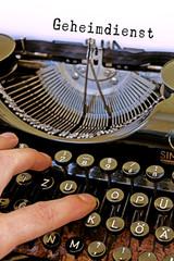 Antike Schreibmaschine Geheimdienst