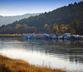 Houseboats on Sauvie Island, Oregon