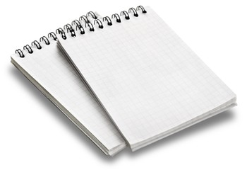 List. Shopping list on natural paper and white background