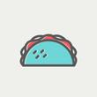 Taco thin line icon - 82205674