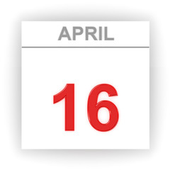 April 16. Day on the calendar.
